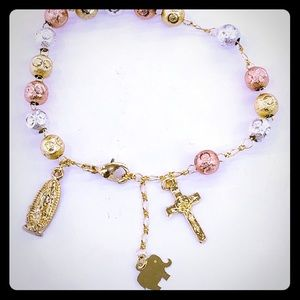 Jewelry - Gold Plated Women's Rosary Bracelet.
